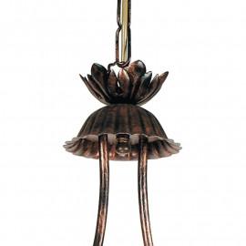 Lustre Egizia avec suspension de billard en métal avec ventilateur de décoration artisanal europe