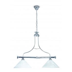 PRO / 1300 / 2A - Suspension de billard 2 lumières diffuseurs coniques en métal Lustre classique en verre E27
