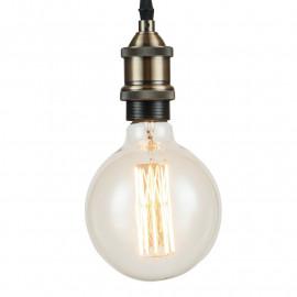 Ampoules chaudes avec suspension vintage en aluminium