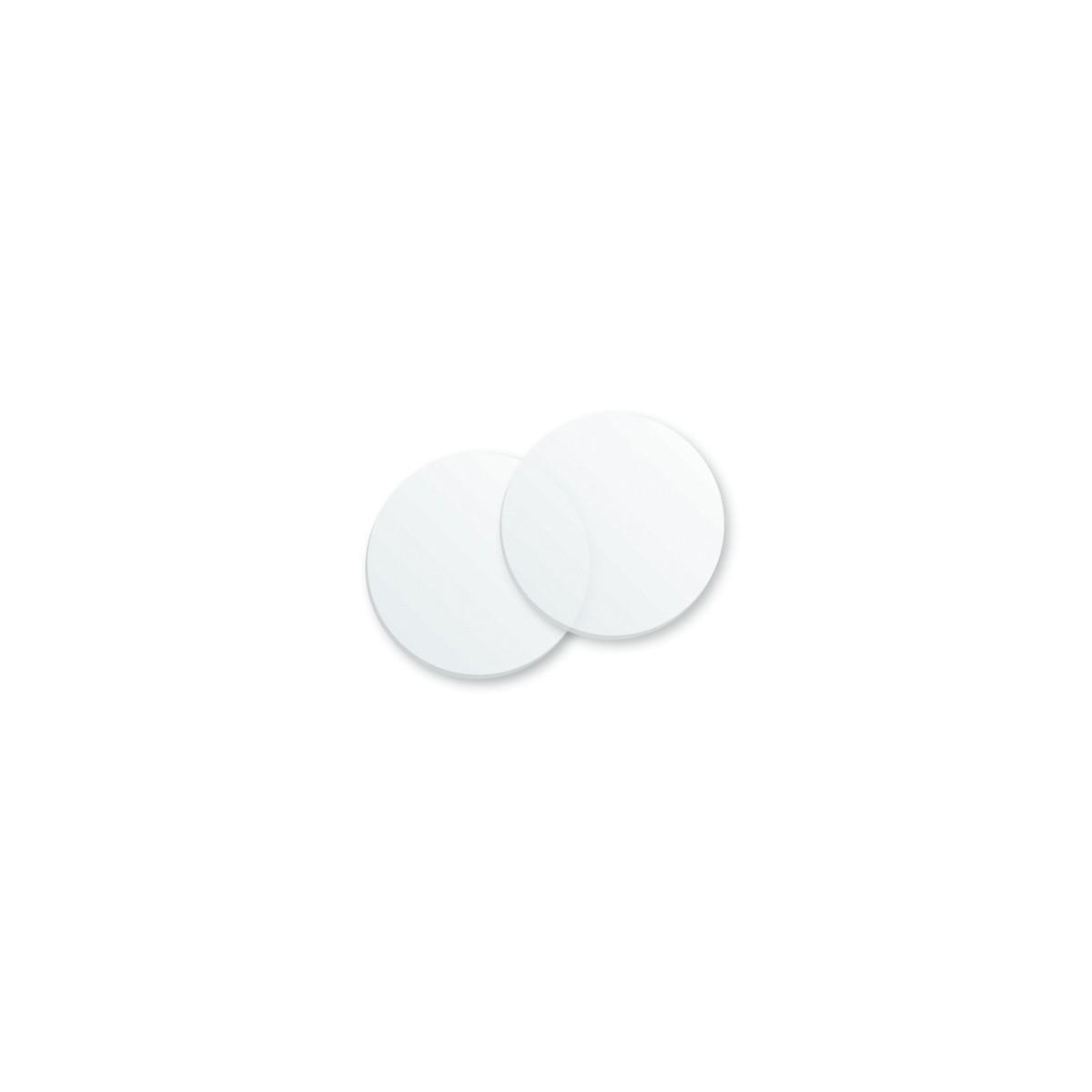 Kit de deux glissières rondes sablées