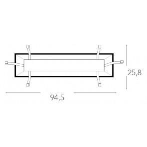 Base pour plafonnier 94,5x25,8 cm E27