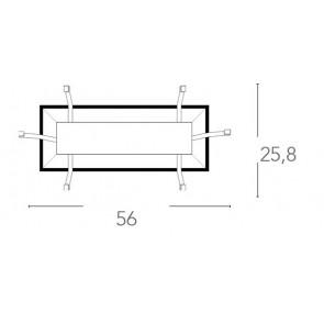 Base per Plafoniera Kappa 56x25,8 cm E27