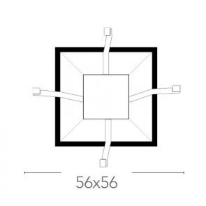 Base pour plafonnier 56x56 cm E27