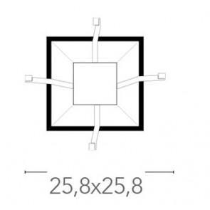 Base pour plafonnier Kappa 25,8x25,8...