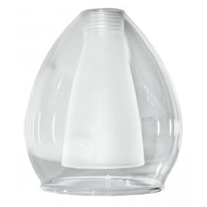 Paralume Vetro Trasparente Satinato F22