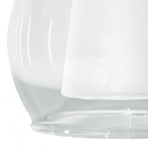 I-VCILINDRO - Paralume Vetro Trasparente Satinato F22