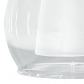 I-VCILINDRO - F22 Abat-jour en verre transparent satiné
