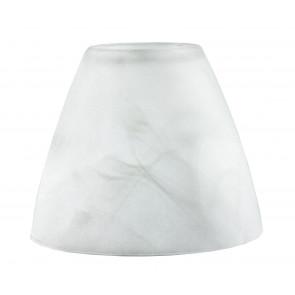 Abat-jour en verre blanc albâtre F32