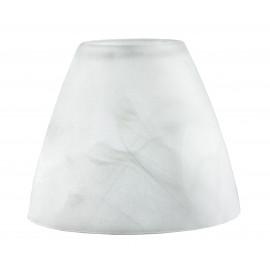 I-VPOESIA - Abat-jour en verre blanc albâtre F32