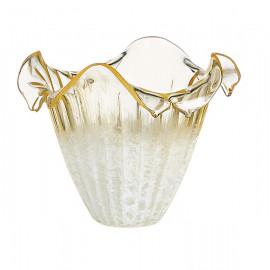 I-VPRIMAVERA - Abat-jour en verre avec bord ondulé Champagne F30