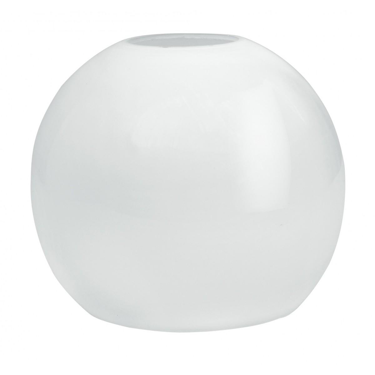 Abat-jour rond en verre blanc opale F42