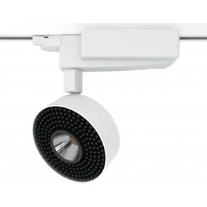 Projecteur pour rail blanc et lumière LED 40 watts 3000 kelvin