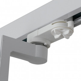 Projecteur pour rail réglable blanc de