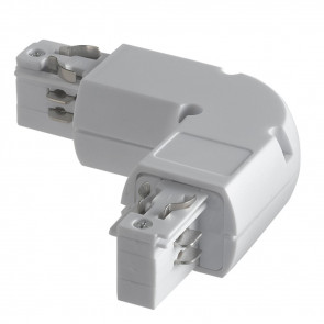 LED-TRACK-L - Connettore per binari guida a forma di elle bianco