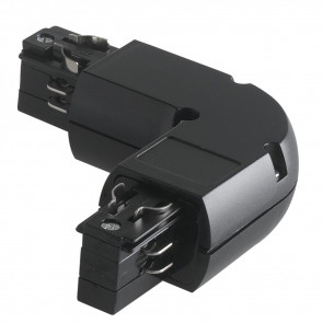 LED-TRACK-L BLACK - Connecteur en forme de L noir pour rails de guidage