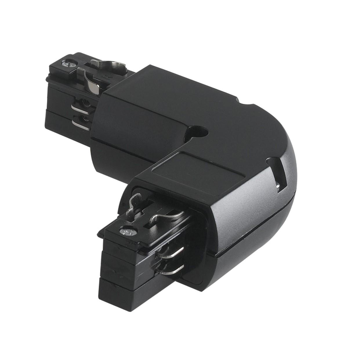 LED-TRACK-L NERO - Connettore per binari
