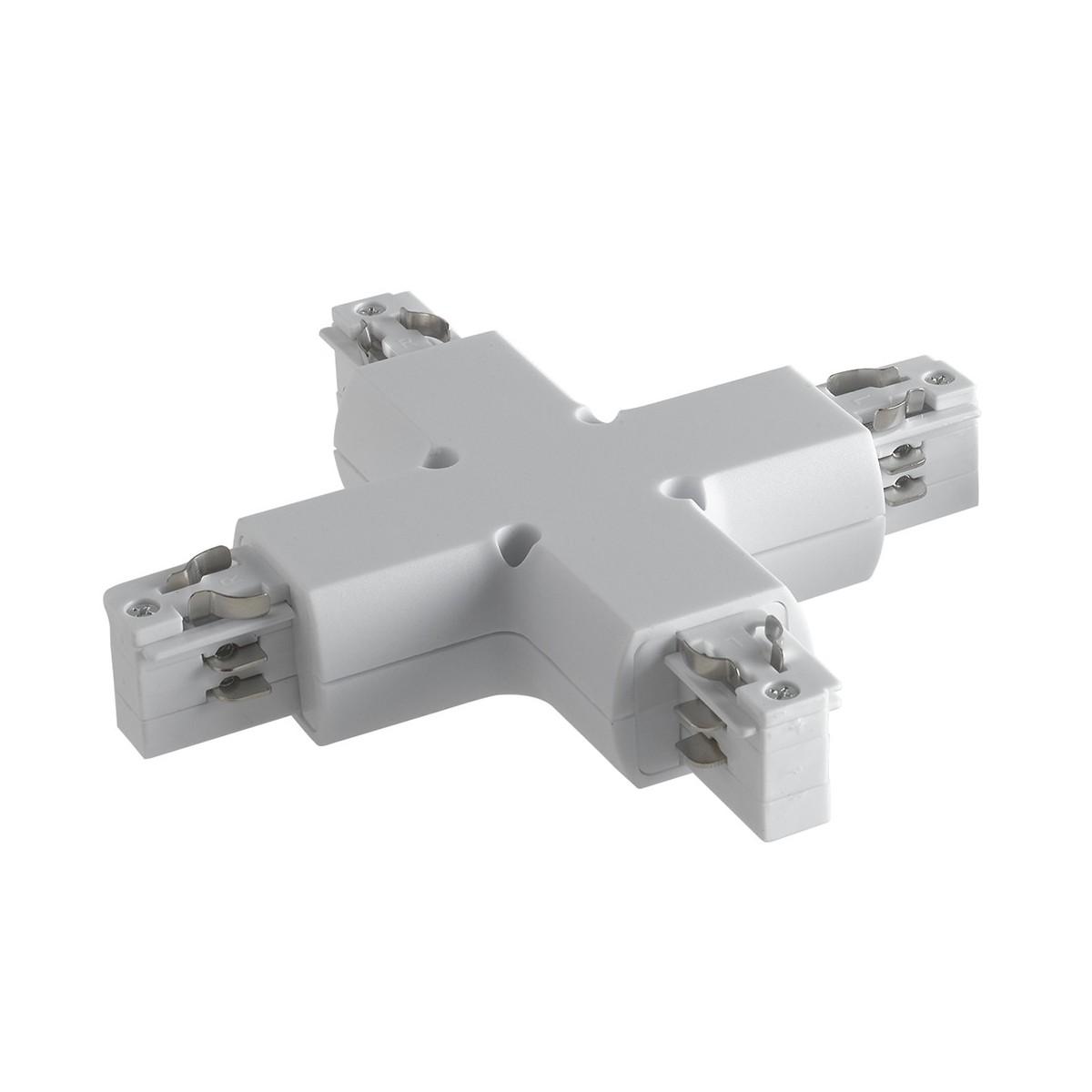 Connecteur blanc pour rails de guidage