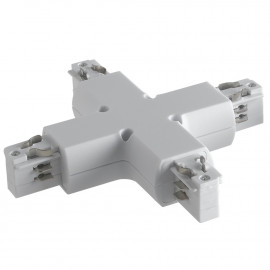 LED-TRACK-X - Connettore bianco per