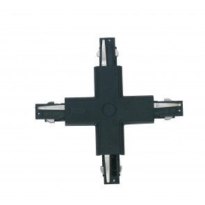LED-TRACK-X NERO - Connettore nero per binari guida dalla forma a croce