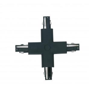 LED-TRACK-X BLACK - Connecteur noir pour rails de guidage en croix