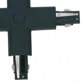 Connecteur noir pour rails de guidage en