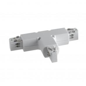 Connecteur de rail de guidage en forme de T blanc