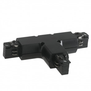 LED-TRACK-T BLACK - Connecteur pour rails de guidage noirs en T