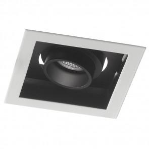 INC-APOLLO-1X20M - Spot orientable blanc faux plafond encastré carré noir à lumière naturelle de 20 watts