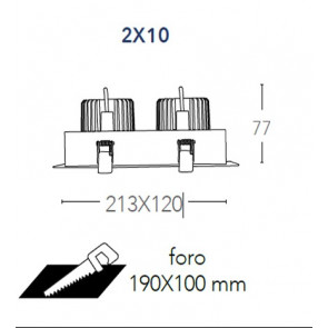 INC-APOLLO-2X10C - Spot encastré 2...
