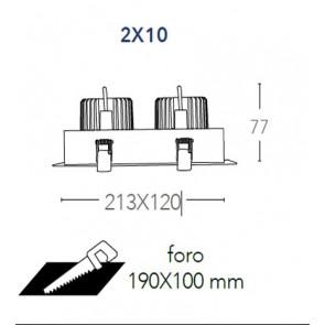 INC-APOLLO-2X10M - Encastré Deux...