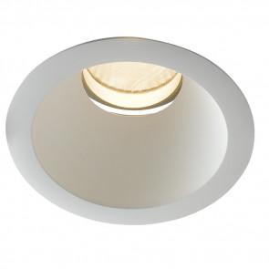INC-ELITE-1X20C - Plafonnier bas encastré rond blanc à lumière chaude de 20 watts