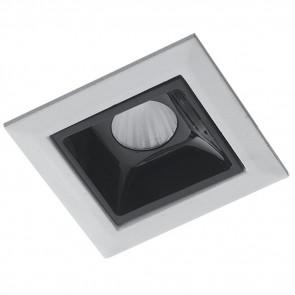 INC-SINKRO-2M - Module encastré pour spot encastrable blanc brillant noir Plaque de plâtre LED 2 watts lumière naturelle