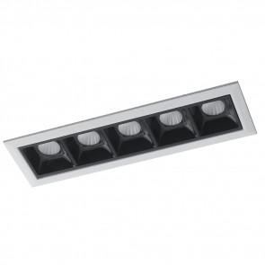 INC-SINKRO-10M - Faretti Modulo a Incasso Controsoffitto Bianco Nero Lucido Led 10 watt Luce Naturale