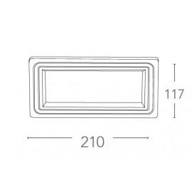 Spot encastré en aluminium moulé sous pression blanc mat avec décoration FanEurope