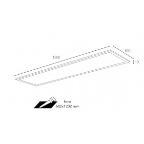 LED-PANEL-F-60X120 Faretto a incasso...