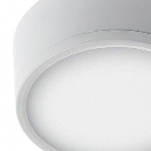 Plafoniera Tonda Alluminio Bianco Led...
