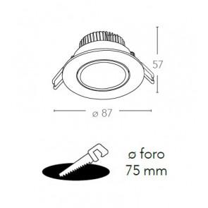 INC-ORIONE-R6 - Faretto Tondo...
