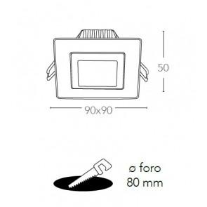 Faretto Alluminio Nikel Orientabile...