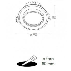 Faretto Incasso Tondo Alluminio...