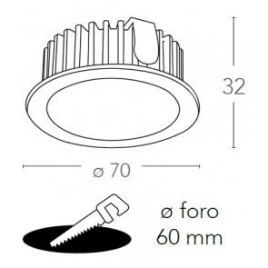 INC-FUSION-5W NIK - Faretto Alluminio...