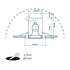 Kit 3 Faretti a Incasso Metallo Nikel...