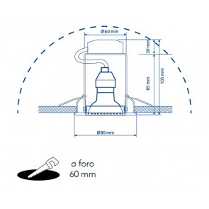 Kit 3 Faretti Incasso Cartongesso...