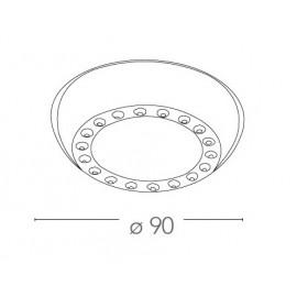 Spot encastré rond en métal de 9 cm avec gemmes acryliques FanEurope