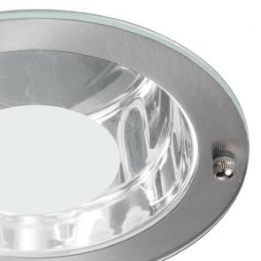 Bague en métal avec diffuseur en verre Adam transparent et satiné