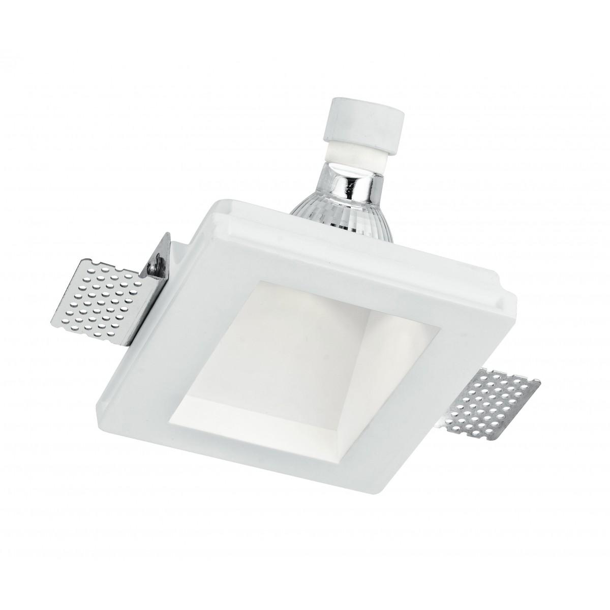 INC-GHOST-Q1D - Spot encastré pour comptoir rétractable en plâtre à peindre GU10
