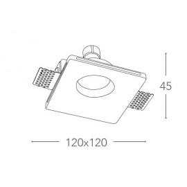Faretto a Scomparsa Senso Quadrato 12x12 cm in Gesso Verniciabile FanEurope