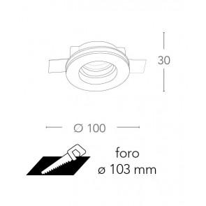 INC-SPIRIT-R1 - Spot rond en plâtre à...