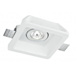 INC-MORGANA-Q1 - Spot encastrable Downlight Faux plafond Spot orientable Carré Enduit à peindre GU10