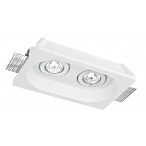INC-MORGANA-Q2 - Encastré encastré 2 spots orientables Craie à peindre Plafond suspendu GU10