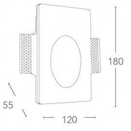 I-ARIEL-RM1 - Spot encastré Spot rétractable Marqueur Paintable Round GU10 mini